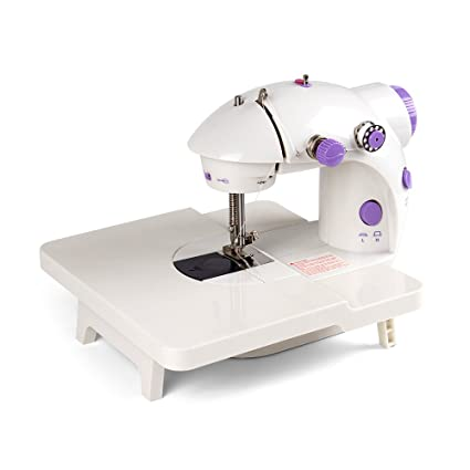 Amazon HAITRAL Mini Sewing Machine With Extension Table Cool Girls Sewing Machine