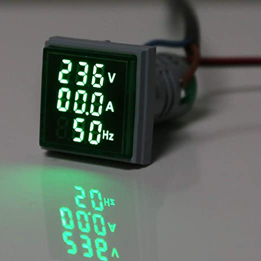 22MM 0-100A Digital Ammeter Current Meter Indicator Led Lamp Square Signal Light By BLINGYING