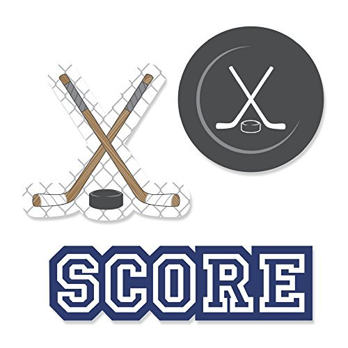 - Big Dot of Happiness Shoots & Scores! - Hockey - DIY Shaped Baby Shower or Birthday Party Cut-Outs - 24 Count