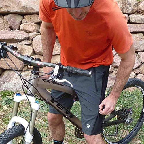 ELEVENPINE 11 Pine Men's Crank it Up Cycling Convertible from Tight to Casual Shorts (Black, Small)