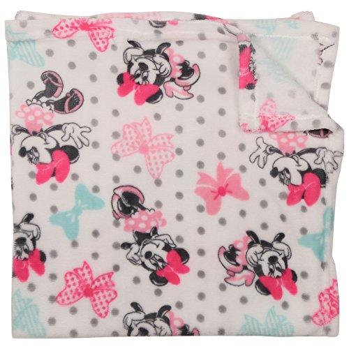 Disney Minnie Mouse Single Sided Flannel Fleece Blanket, Bows Print ()