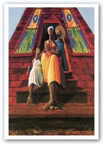 AFRICAN AMERICAN ART PRINT Family Fellowship John Holyfield