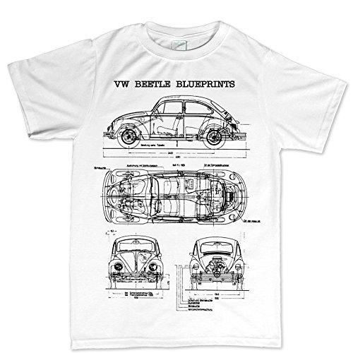 Customised Perfection BeetleBugCamperClassicBlueprintT ShirtWHT L White