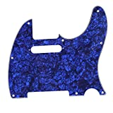 Musiclily Tele Pickguard for US/Mexico Made Fender Standard Telecaster Modern Style Electric Guitar, 4ply Pearl Blue