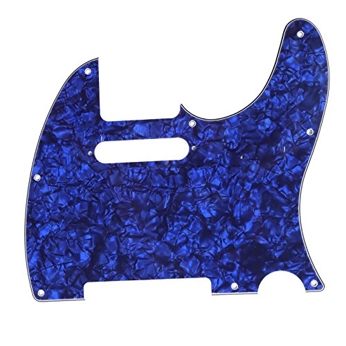 Musiclily Tele Pickguard for US/Mexico Made Fender Standard Telecaster Modern Style Electric Guitar, 4ply Pearl Blue by Musiclily