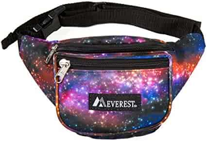 Everest Signature Pattern Waist Pack, Galaxy, One Size