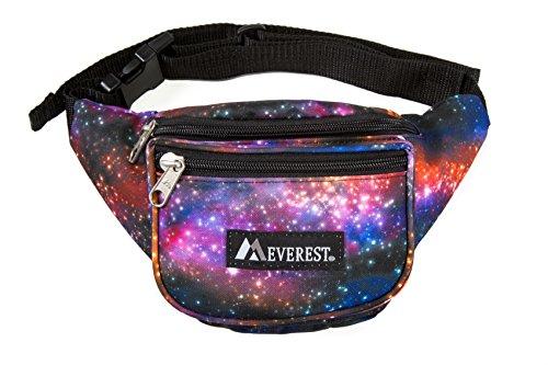Everest Signature Pattern Waist Pack, Galaxy, One Size