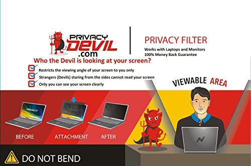 PrivacyDevil PD22 Privacy Screen for 22'' Monitors, Filter for 22''Display by PrivacyDevil