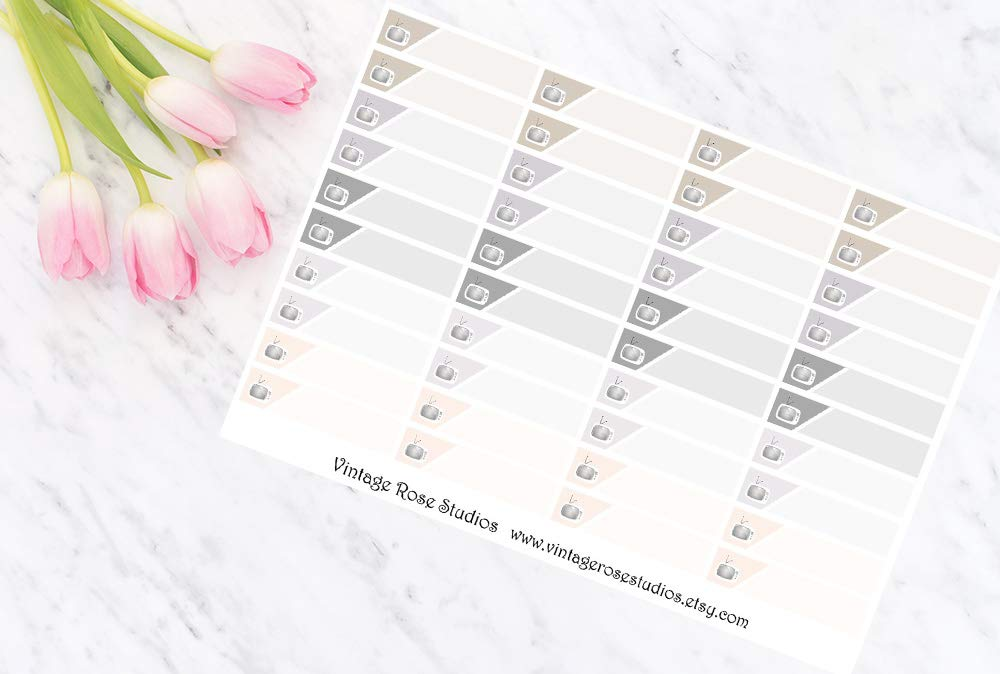 2x Neutral TV Little Things Functional Planner Stickers for Erin Condren Filofax Personal Travelers Notebook Planner