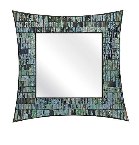 IMAX 96108 Aramis Mosaic Glass Wall Mirror - Hanging Wall Mirror for Bathroom, Living Room, Dining Room, Wall Mounted Mirror. Home Decor