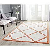 Safavieh Amherst Collection AMT421F Beige and Orange Indoor/Outdoor Area Rug (4′ x 6′) Review