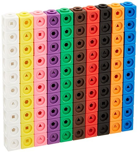 Learning Resources Mathlink Cubes, Educational Counting Toy, Set of 100 Cubes by Learning Resources (Image #1)
