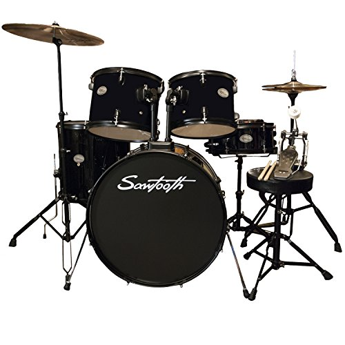 rise-by-sawtooth-full-size-student-drum-set-with-hardware-and-zildjian-cymbals-pitch-black
