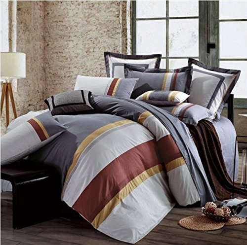 Awning Stripe Bedding - Textile City Inc Awning Stripe 5-Piece Comforter Set Queen