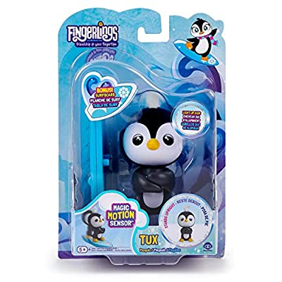 WowWee Fingerlings Baby Penguin - Tux (Black & White) - Interactive Toy: Toys & Games