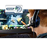 Enhance GX-H2 Computer Gaming Headset with Noise Isolating Ear Pads, Adjustable Mic, and Volume Control for Dota 2, League of Legends, World of Warcraft: Legion, Battlefield 1 and More PC Games