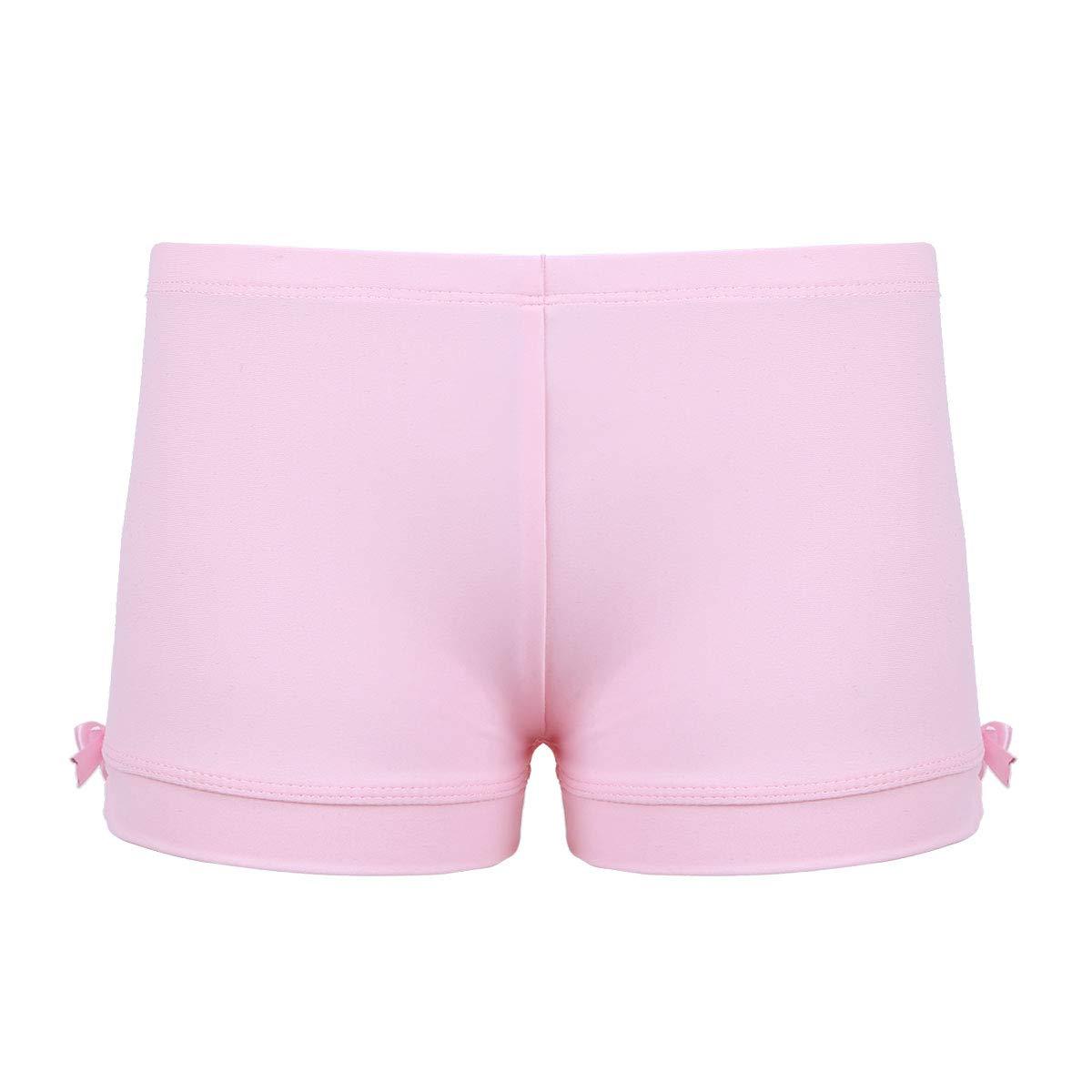 Agoky Kids Girls Gymnastics Workout Yoga Athletic Sports Training Bike Short Pink Boy-Cut 3 by Agoky (Image #2)