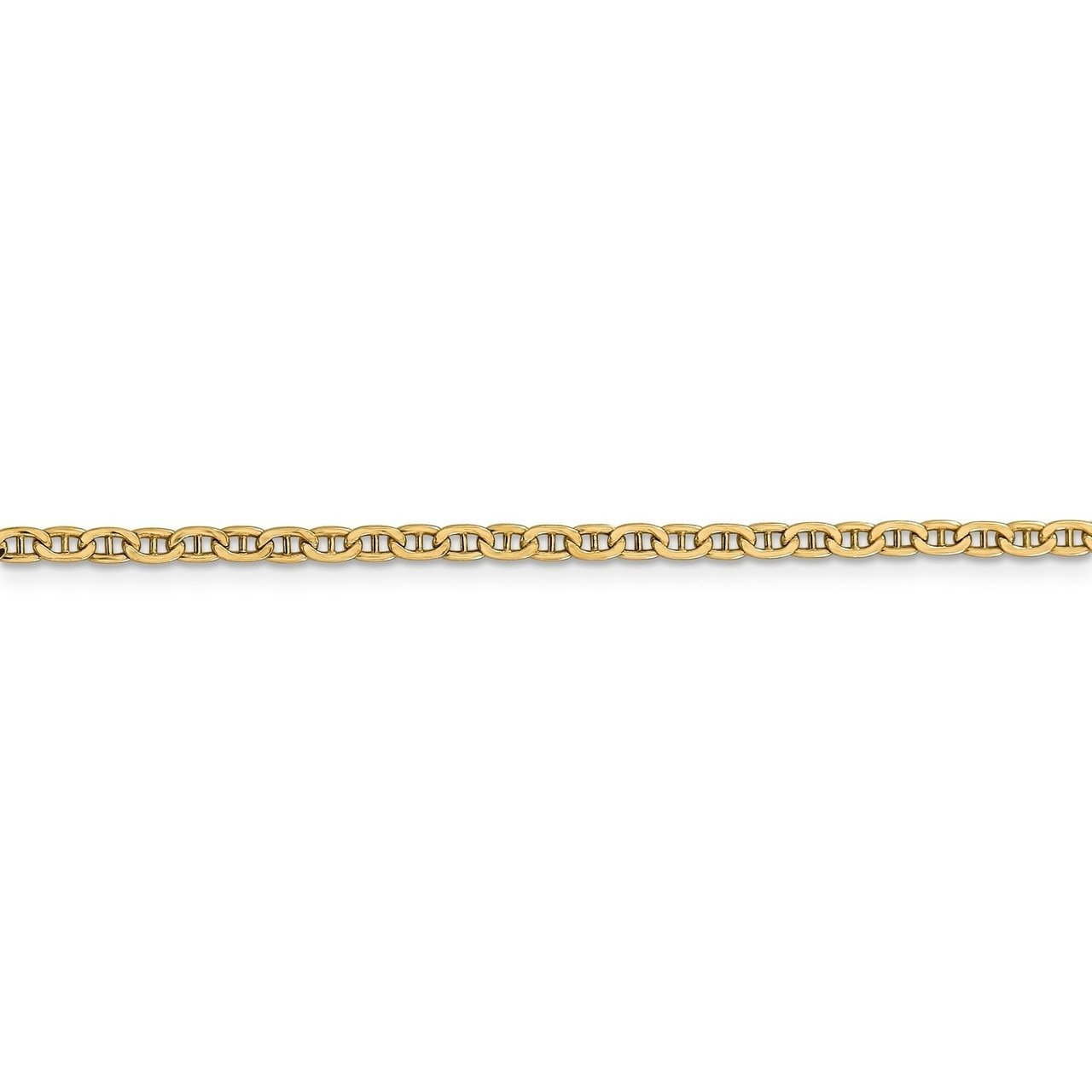 Lex /& Lu 14k Yellow Gold 2.40mm Anchor Chain Necklace or Bracelet