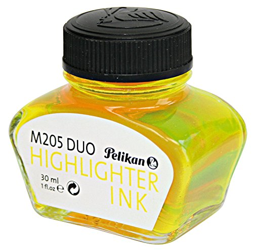 Pelikan 4001 Bottled Ink for Fountain Pens, For Pelikan M205 Classic Duo Highlighter Pen, Fluorescent Yellow, 30ml, 1 Each (344879)