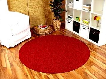 Strong feinschlingen velour teppich rot rund in größen größe