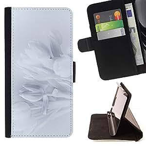 For LG G2 D800 Case , Pétalos Snowdrop Pétalo Sombra Sutil- la tarjeta de Crédito Slots PU Funda de cuero Monedero caso cubierta de piel