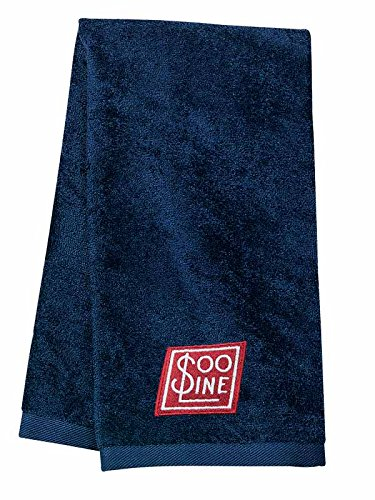 Soo Line Embroidered Hand Towel Navy [38]