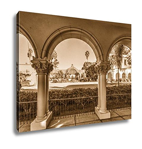 Ashley Canvas Arches In Balboa Park In San Diego California, Home Office, Ready to Hang, Sepia 20x25, AG6522673 (Outdoor Diego San Wood Furniture)