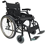 Karman Lightweight Extra Wide Wheelchair in 20 inch Seat with Height Adjustable Armrests and Flip Back