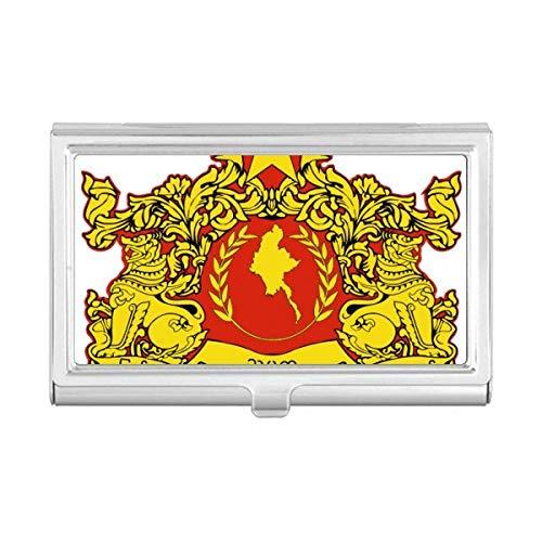Burma Box - Naypyidaw Burma National Emblem Business Card Holder Case Wallet