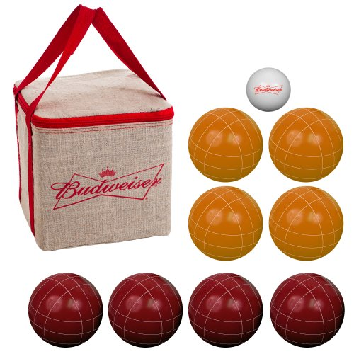 Premium Regulation Size Budweiser Bocce Ball Set - Includes Easy Carry Case! by TMG