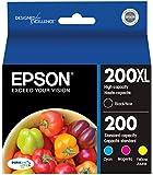 Epson 200XL Black + 200 Cyan/Yellow/Magenta Combo Saver Pack