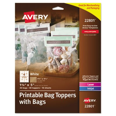 Avery Printable Bag - 1.75quot; X 5quot; - 40/Pack - White quot;Product Category: Accessories/Bagsq -