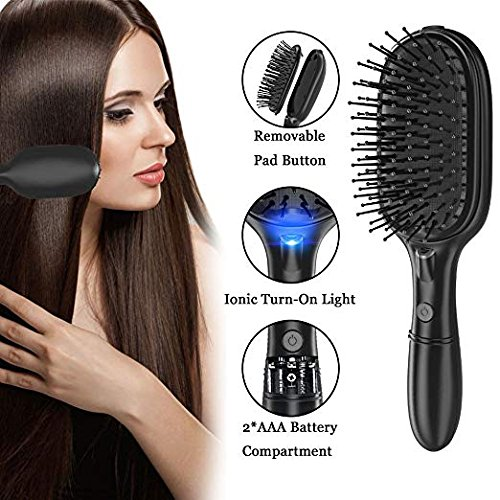 BMK Ionic Hair Brush Ion Detangler Brush Anti-Static Curved Vented Detangling Hair Brush Hair Styling Combs for Women with Long Thick Thin Curly and Tangled Hair Vent Brush … (Upgraded)