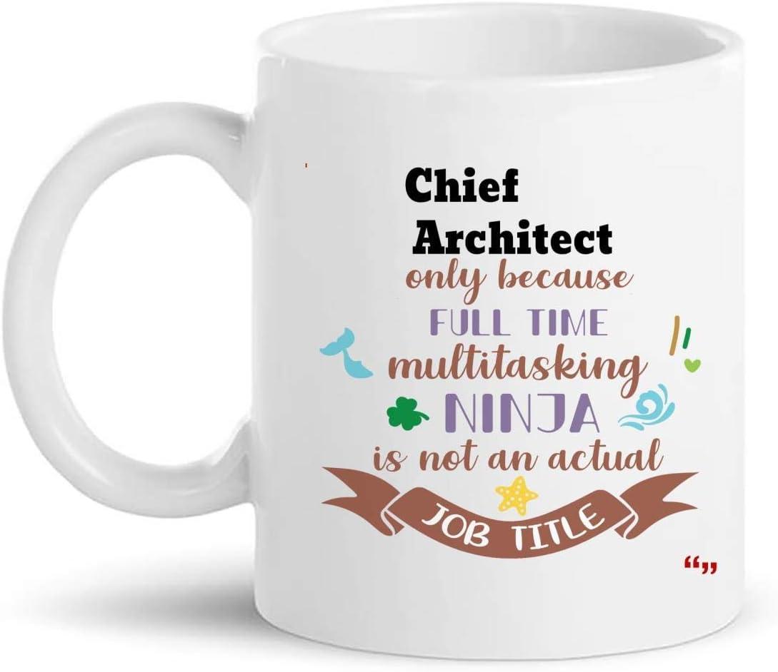 Not Applicable Mejor Taza de Arquitecto Jefe Taza de Café de 11Oz - Regalo de Arquitecto Jefe Regalos Personalizados para Hombres Mujeres Camisetas Tazas Tazas