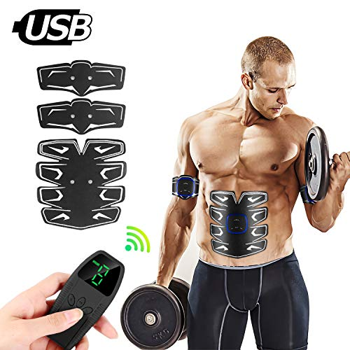 UNOSEKS Muscle Toner with Remote Control, RoHS and CE Certified Abdominal Toning Belt for Men and Women, Bodybuilding Muscle Toner with Auto Off, EMS Abs for Body Gym Workout at Home or Office (Best Toning Workout For Women)