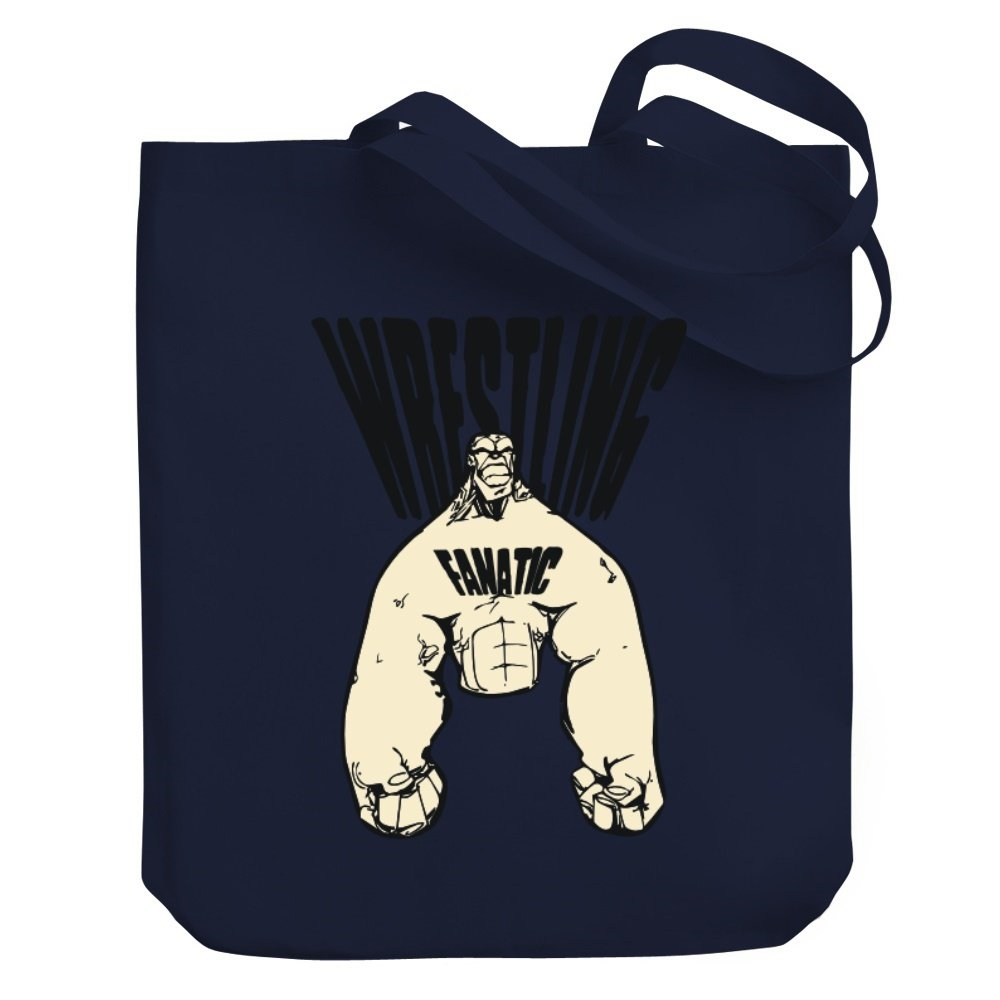 Teeburon Wrestling FANATIC Canvas Tote Bag