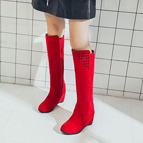 COOLCEPT Botas Largas para Mujer Red