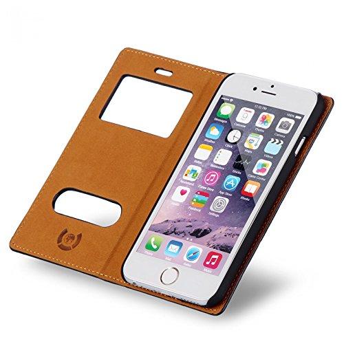 numia Handy Tasche Schutz Hülle Wallet Case Flip Cover Klapp Etui Schale Für Apple iPhone 7 Plus Schwarz