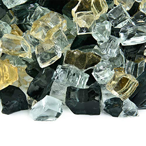 Sin City - Fire Glass Blend for Indoor and Outdoor Fire Pits or Fireplaces   10 Pounds   1/2 Inch Color Fireplace Fire Glass