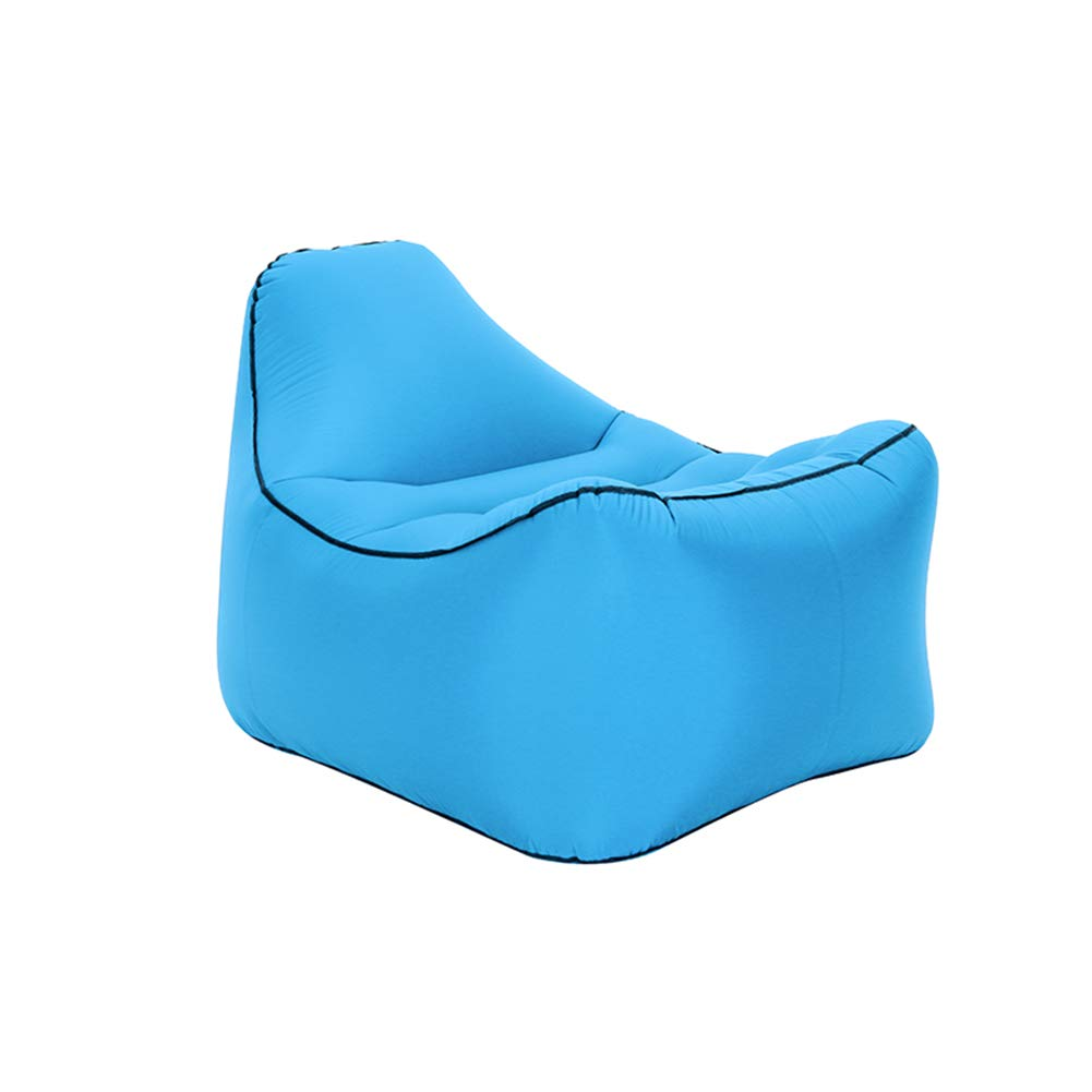 lumièrebleu L Baisde Canapé Gonflable Sofa Gonflable ImperméAble à l'eau Durable LéGer Compact De Sofa Longue Salon Fauteuil
