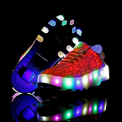 LED Light Christmas White Optic Flashing Fiber Gift up Kids GOFAST for Double Party Women Great Shoes Shoes Led Men Unisex Sneaker WcZqXZFnB