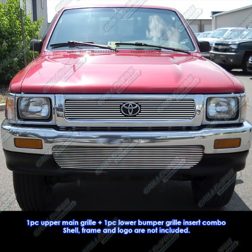 APS Fits 92-95 Toyota Pickup Truck 4WD Billet Grille Combo #T61073A ()