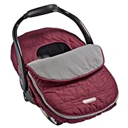 JJ Cole - Car Seat Cover, Weather Resistant Stretch Canopy for Protection, Safety, and Warmth, Wine Triangles, Birth and Up