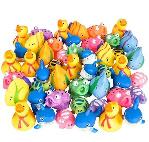 Rhode Island Novelty Rubber Water Squirting Toy Assortment | 50 Pieces (50 Novelty Piece Assortment)
