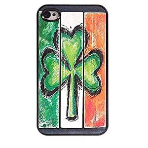 QJM St. Patrick's Day Design Protective Hard Case for iPhone 4/4S
