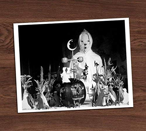 Creepy Ghost Tabletop Party Display Vintage Altar Photo Art Print 8x10 Wall Art Halloween Decor ()
