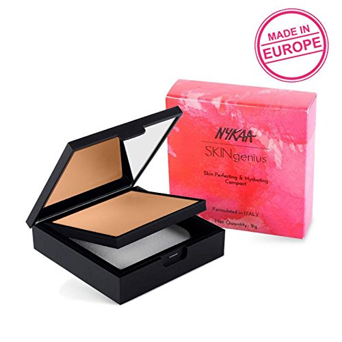 Skin Perfecting Polish - Nykaa SKINgenius Skin Perfecting & Hydrating Compact - Warm Honey 03