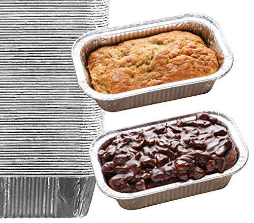 35 Pack - 1LB Sturdy Mini Loaf Pans, Aluminum Loaf Pans, Bread Pans, Foil Loaf Pan l Cake Pan, Disposable Aluminum Pans l Top bakery's choice Tin Pans - 1 Pound - 6'' X 3.5
