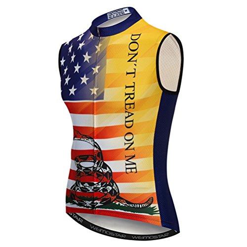 Sleeveless Mens Bike Jersey - Cycling Vest Men's Cycling Sleeveless Biking Shirt Clothing Jacket Bike Bicycle Jersey XXL