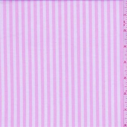 Camisa de algodón de rayas rosas y blancas, tela por Yard ...
